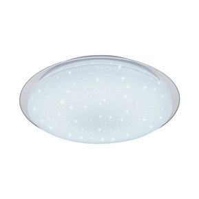 LED ОСВЕТИТЕЛНО ТЯЛО 40W EPISTAR2835 3000K+6400K MATT WHITE+DOTTY SPARKLE